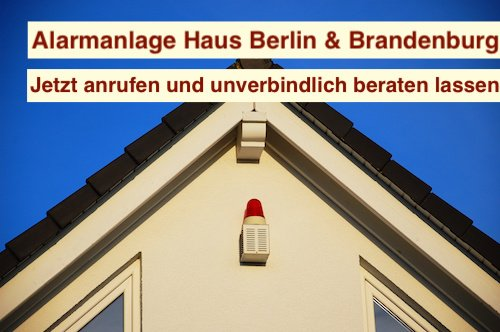 Alarmanlage Haus Berlin & Brandenburg
